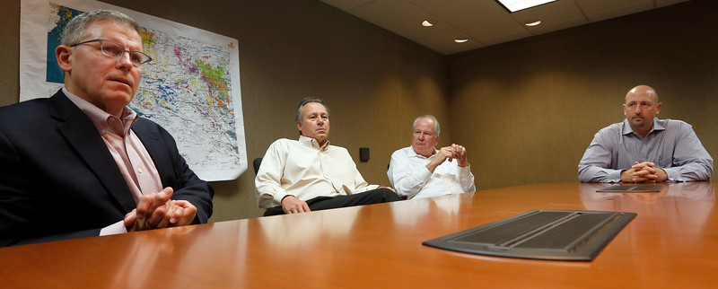 Atalaya Resources Rob Johnston, Lawrence Brunsman, Dave Stangl and Michael Bose, <br /> <br /> Answer reporters questions Thursday in Tulsa?<br /> <br /> Pause for a photo?