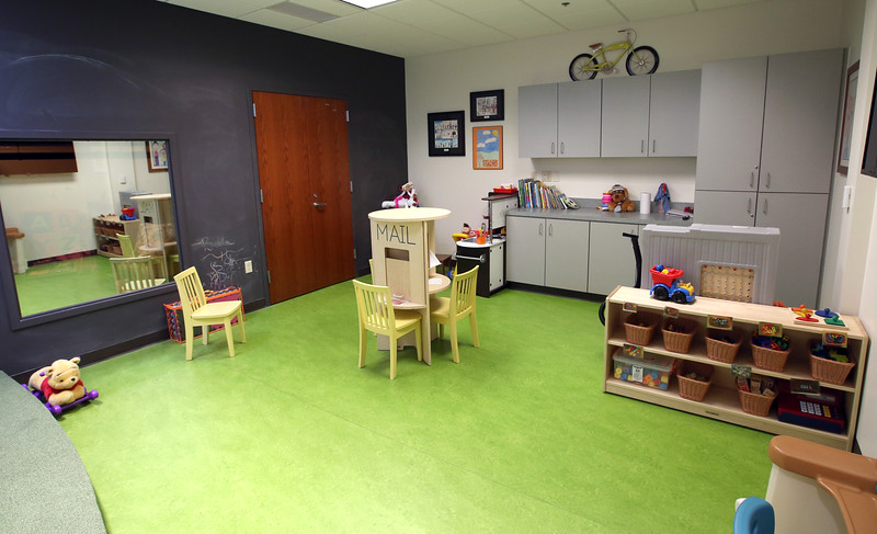 A Childrens play room at the women in recover facility in downtown Tulsa.