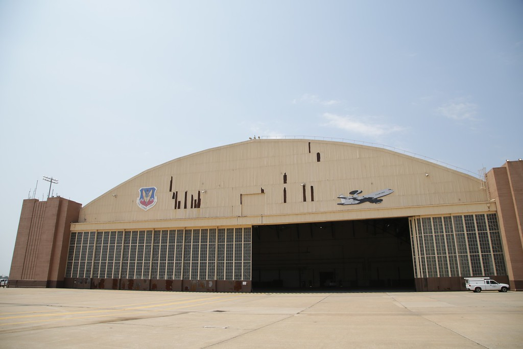 A maintainance hanger designated Building 230 is one of the original buildings at Tinker Airforce Base in Midwest City, OK.