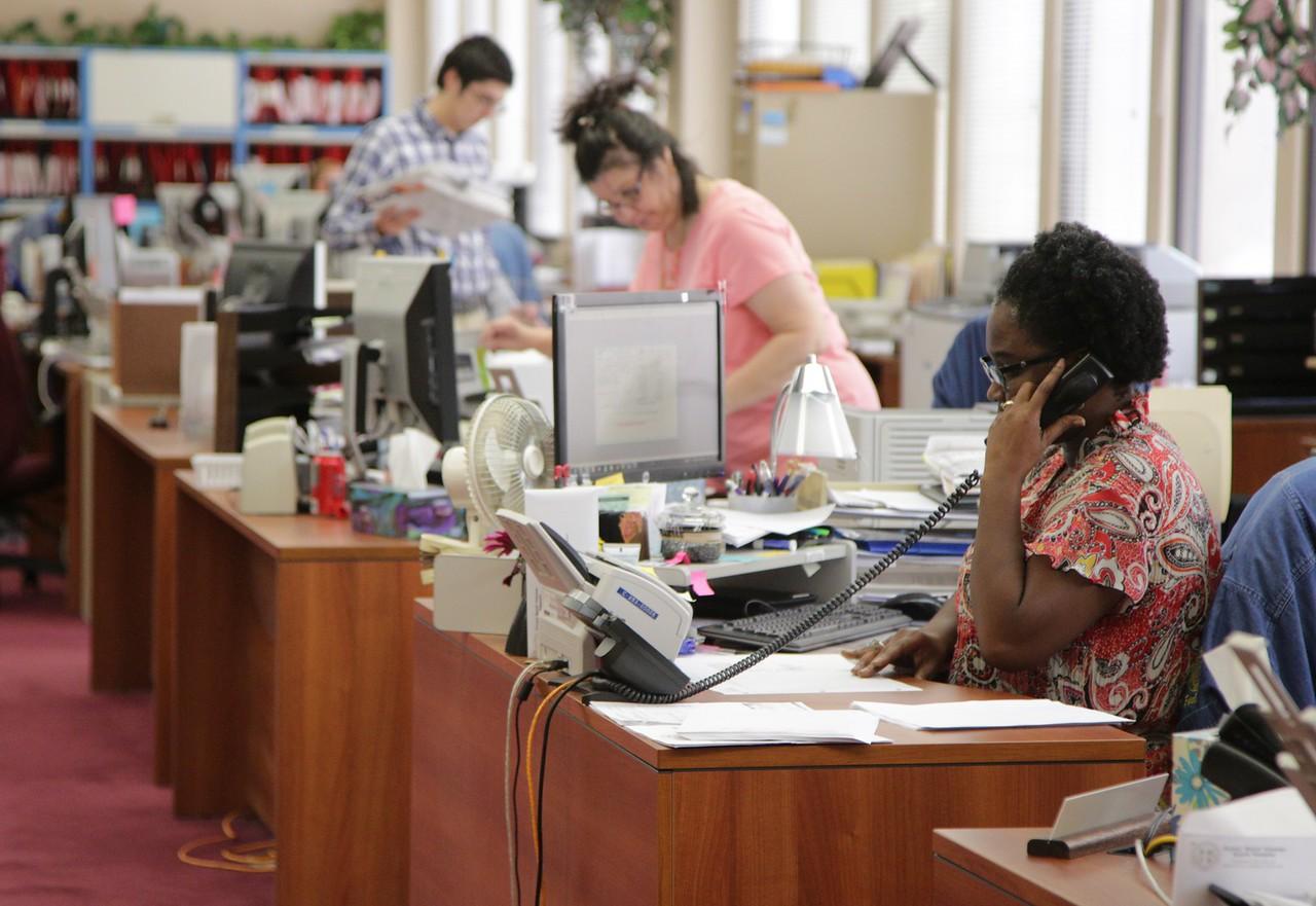 The Oklahoma County Treasurer's office in Iklahoma City.
