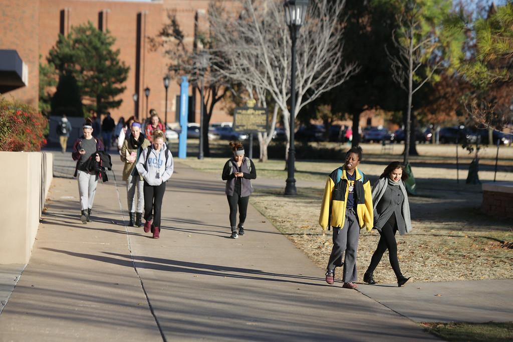 Students on the capus of Oklahoma City University.
