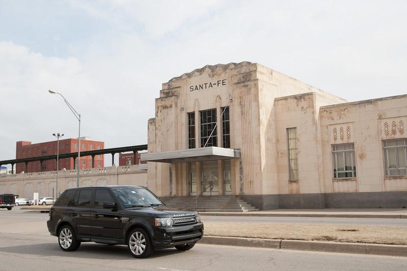 The Santa Fe train station in downtown Oklahopma City.