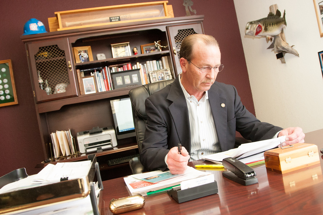 Jim Curry, president of the Oklahoma AFL-CIO based in Oklahoma CIty.