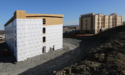 Construction continues on the 85 room Home2Suites Hotel in Tulsa.