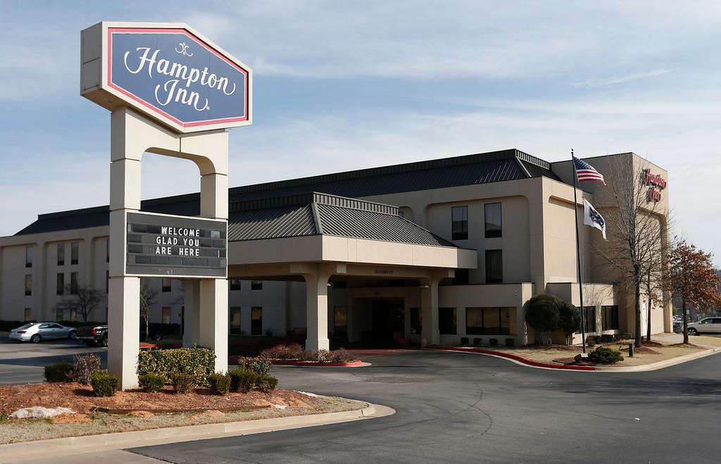 The Hampton Inn, 7852 W. Parkway Boulevard in Sand Springs.