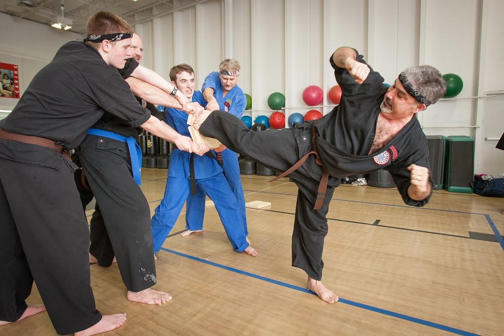 David Kearney takes Taekwando at the Rankin YMCA in Edmond, OK as part of his fitness routine.