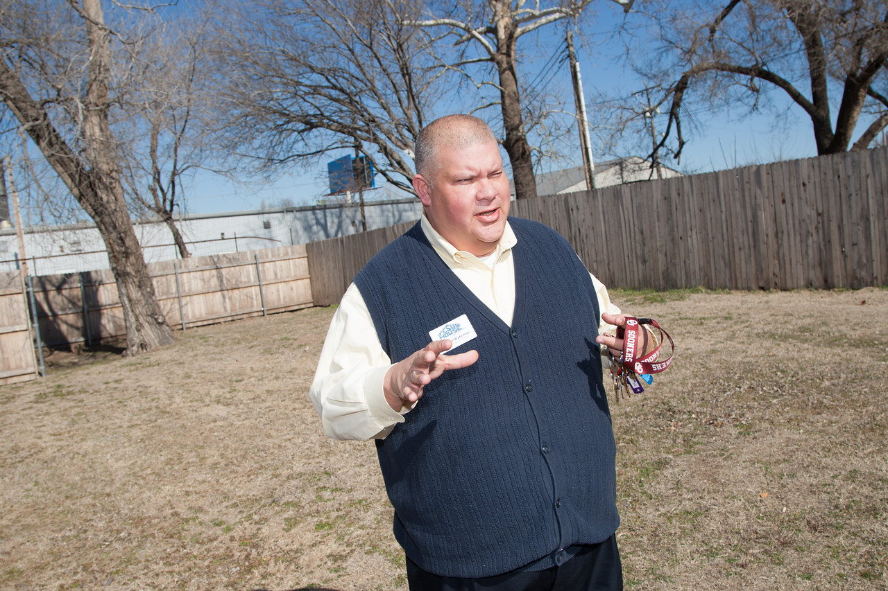 Micheal Bateman, executive director of Jesus House on the site of their new GED facility in Oklahoma City.