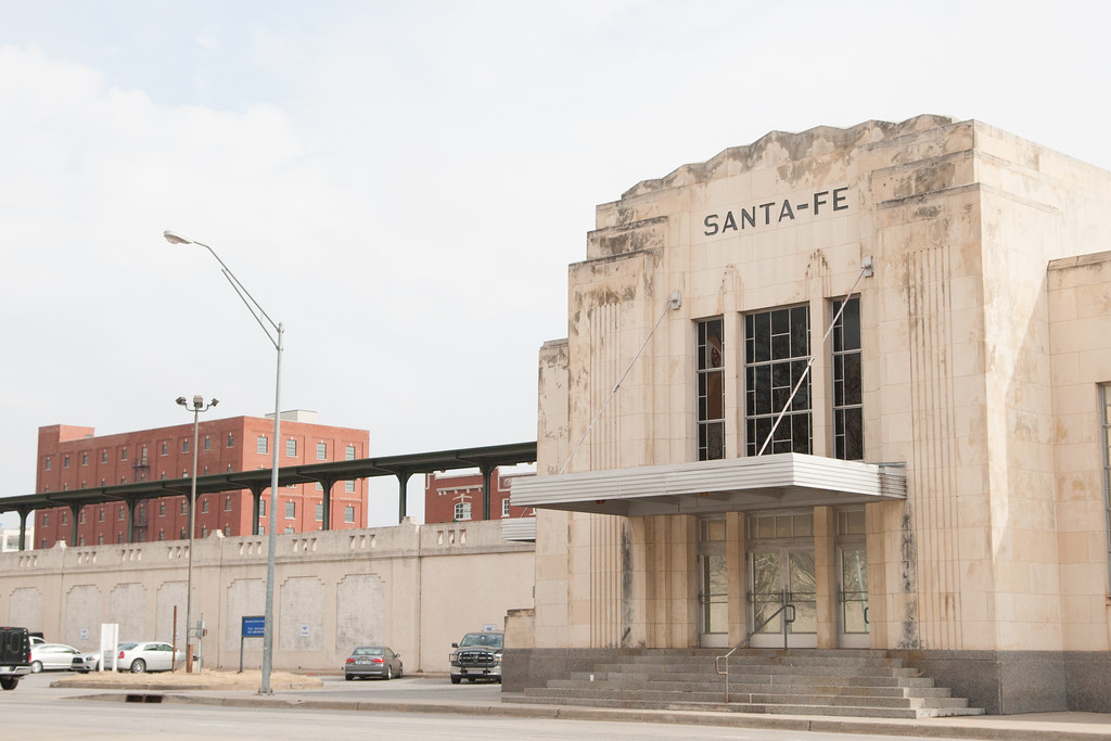 The Santa Fe train station in downtown Oklahopma City.