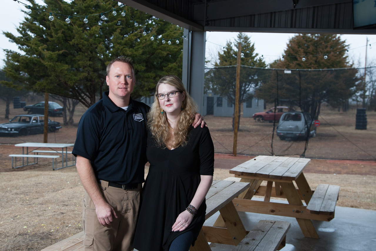 Dustin and Leslie Hester opened Family Battle Park paintball near the intersection of Highway 74 and Highway 33 in Logen County, Oklahoma.