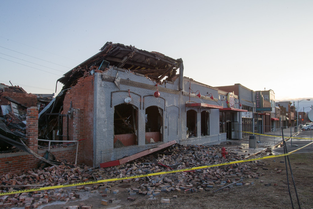 S&B Burger Joint in Norman, OK was destroyed by an early morning fire.