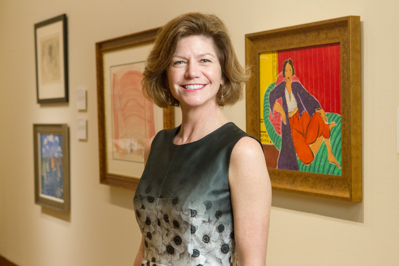 Art curator Colette Loll at the Oklahoma City Museum of Art.