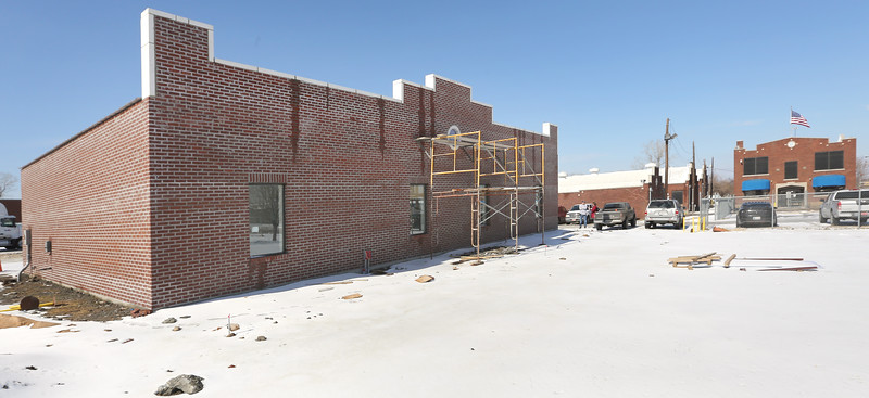 Construction continues on expanded facilities at the Brainerd Chemical's north Tulsa location.