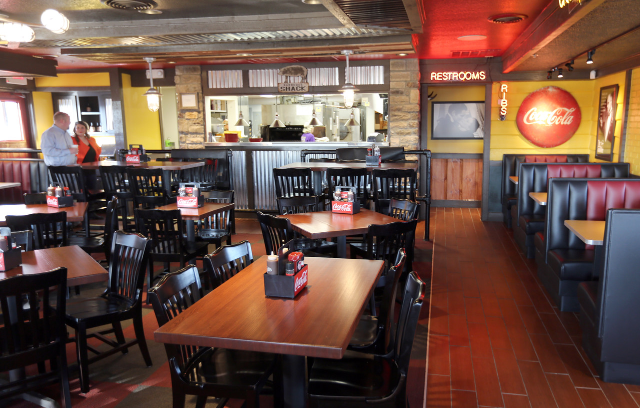 The dining room at the Rib Crib restaurant in Bixby.