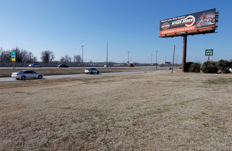 The property near I-44 and Peoria in Tulsa in dispute between ODOT Lamar Outdoor Advertising.