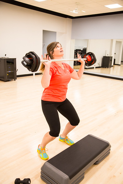 Elisa Milbourn working out at the YMCA at 101 W Main in downtwon Oklahoma CIty.