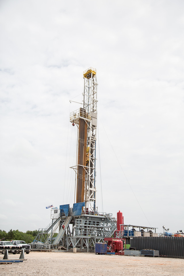 A gas well operated by Gastar at Portland and NW 150th Street in Oklahoma CIty, OK.