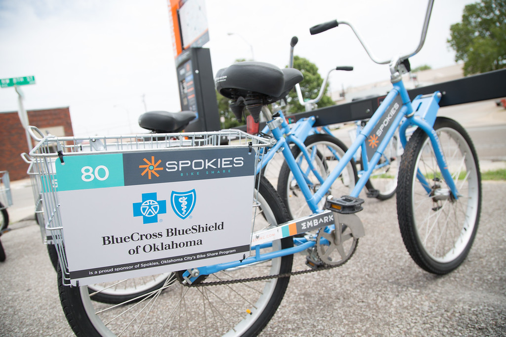 The new Spokies bicycles at a new location at NW 8th and Walker Ave.