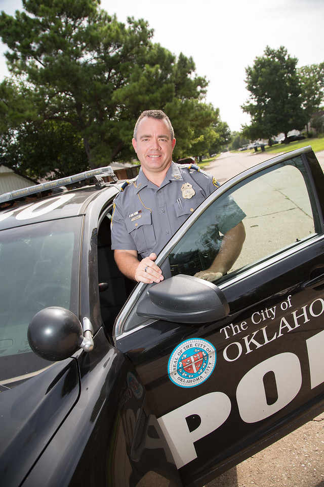 Staff Seargent Corey Nooner with the Oklahoma City Police.
