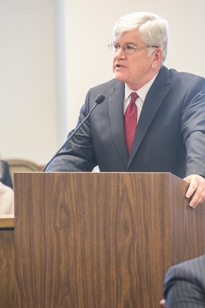 Ronald Stakem speaking on behalf of OG&E Shareholder Association at the OG&E rate case before the Oklahoma Corperation Commision.