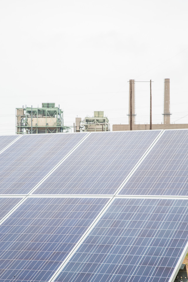 OG&E is installing two solar panal test facilities at it's Mustang Power Plant in Oklahoma CIty