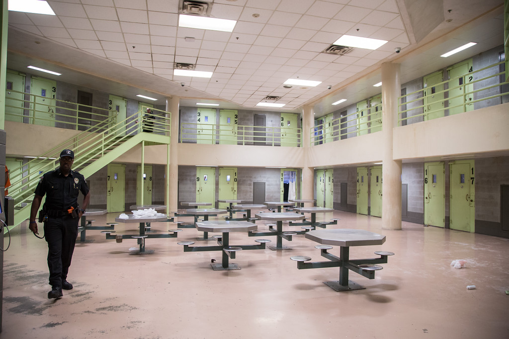 The eigth floor of the Oklahoma County Jail in Oklahoma CIty, OK.