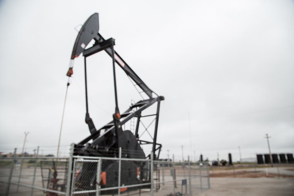 A pump jack on SE 59th Street in Oklahoma CIty, OK.