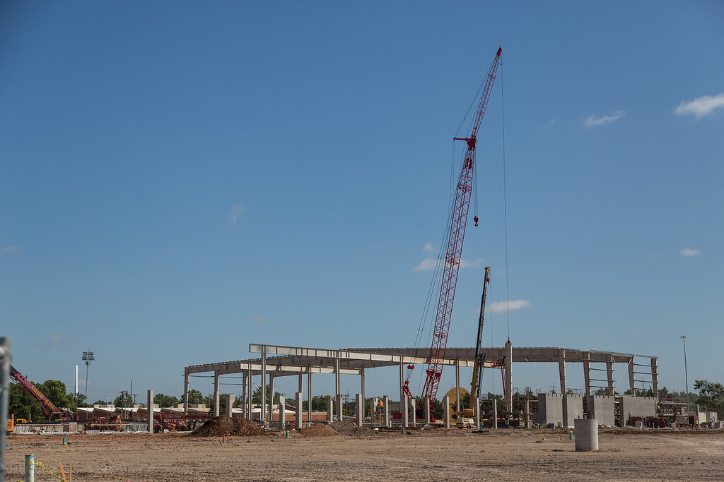 Construction of the new expo center at the Oklahoma State Fairgrounds in Oklahoma City.