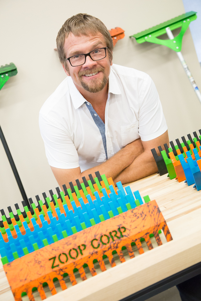 Andy Zupe, inventor of the Zoop rake and owner of Zoop Corp. based at the Francis Tuttle Business Incubator in Edmond, OK.