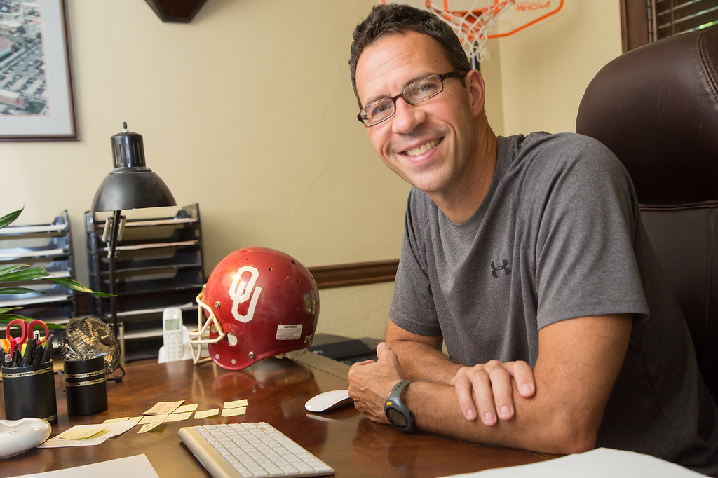 Jim Miller at his home office in Norman, OK.