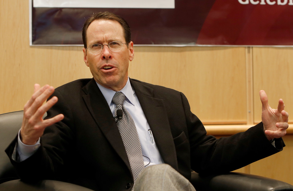 AT&T Chairman and CEO Randall Stephenson, speaks to participants at the 15th Anniversary Celebration of the OU Tulsa Telecommunications Engineering Program.