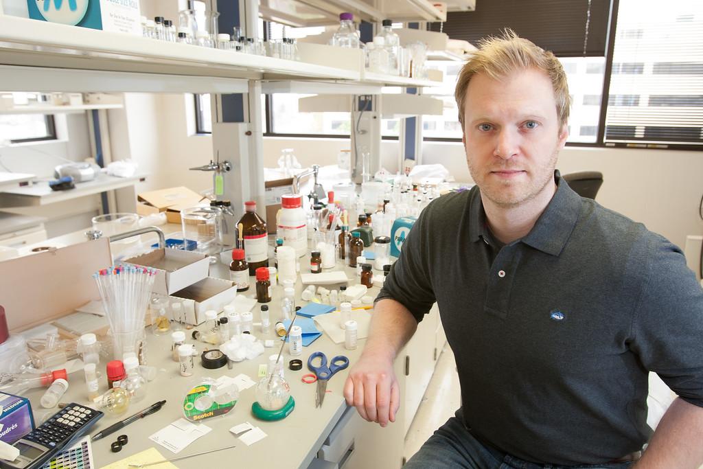 Justin Briggs, director of Accele Biopharma in Oklahoma City.
