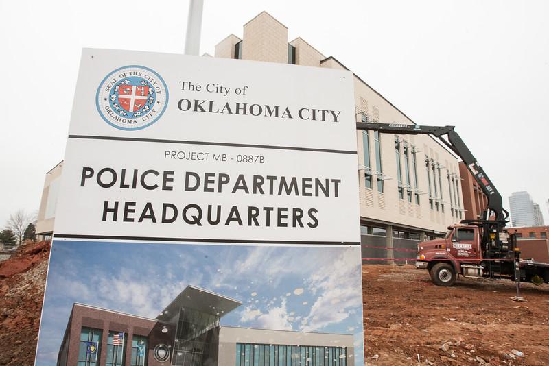 The new Oklahoma City Police Headquartes under construction in downtown Oklahoma CIty.