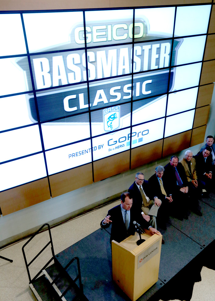 Bruce Akin, CEO of B.a.s.s. LLC, announces that the Bass Masters tournament will be held in Tulsa March XXXXX 2016.