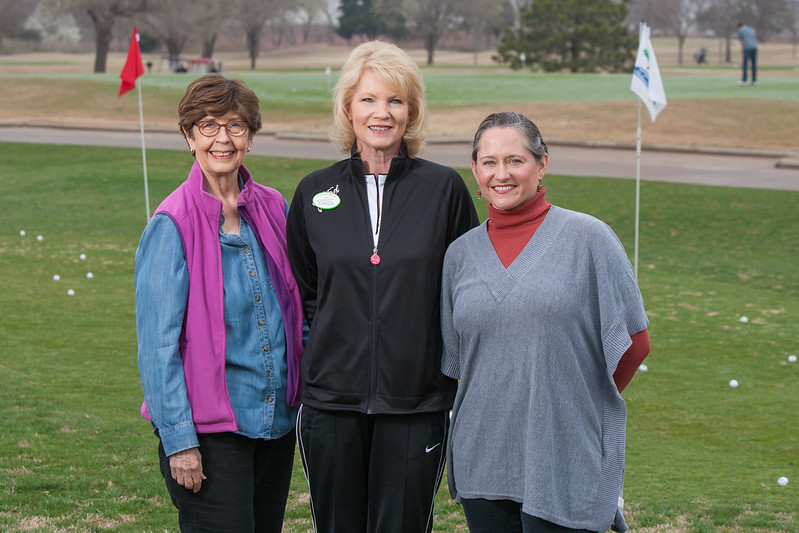 Shawn Witcher, Cindy Johnson and Kathy McCraw are board members with the Executive Womans Golf Association Oklahoma City chapter at Lake Hefner Golf Course.