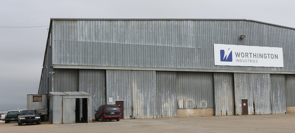 Worthington Industries said on Wednesday because of lack of demand for its oilfield equipment, it was laying off 40 workers at the Skiatook facility.