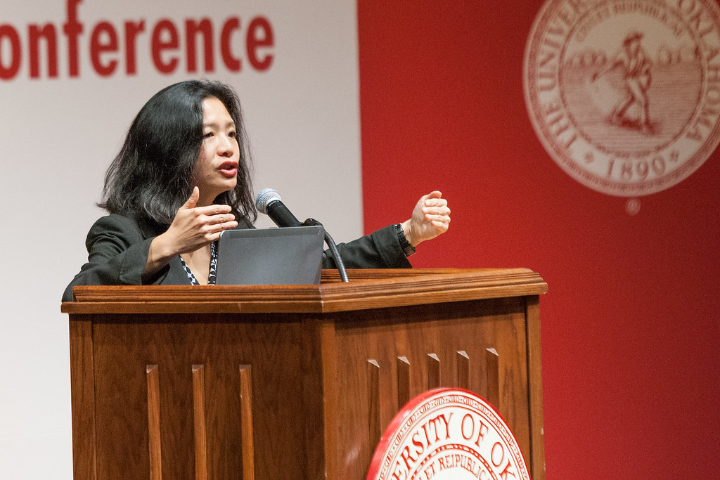 Dr Karen Lee speaking at the 2015 Placemaking Conferance held at the University of Oklahoma in Norman, OK.