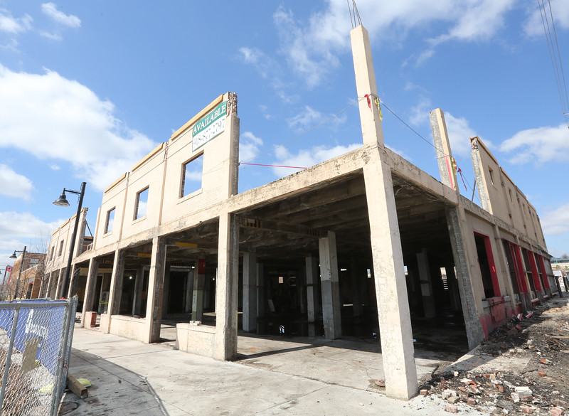 The joint KSQ Architects and Marsahls brewery construction project in downtown Tulsa.