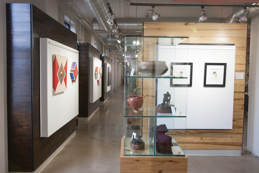The Chickasaw Nation's art gallery Exhibit C is open in Bricktown with work from featured artist DG Smalling on display.