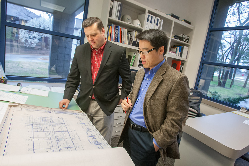James Howard and Gang Li, principal partners at Architects in Partnership in Norman, OK.
