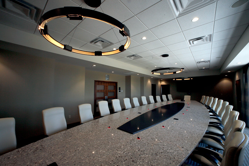 The board room at the First Oklahoma Bank in Jenks