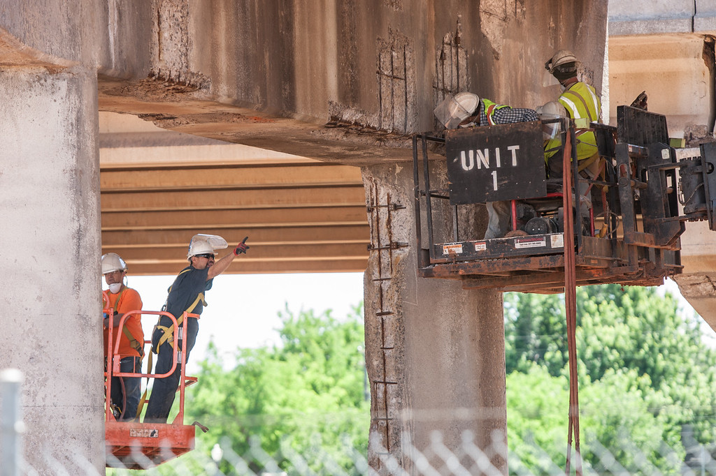 Repairs of the Belle Isle bridge section of I-44 in Oklahoma City, OK.