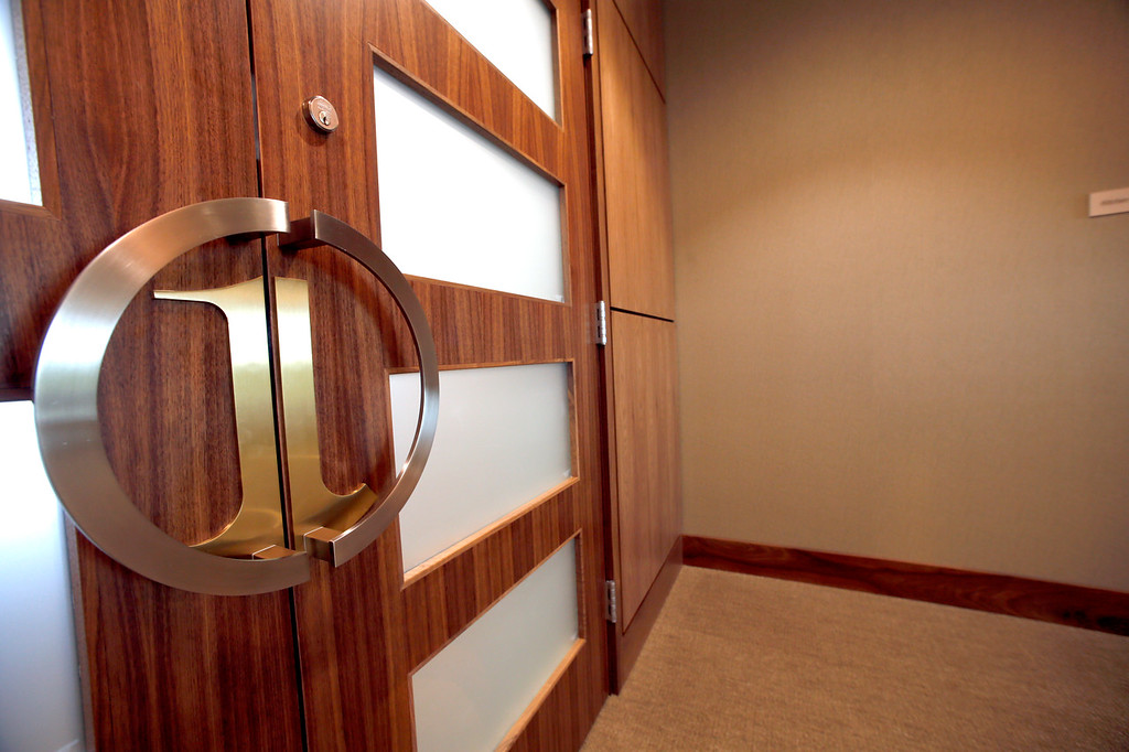 Door to the board room at the First Oklahoma Bank in Jenks