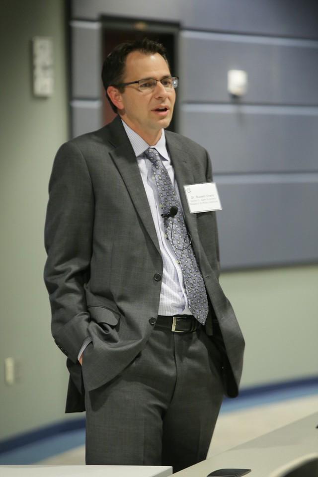 Economists Russell Evans speaking to the Edmond Economic Development Authority in Edmond, OK.