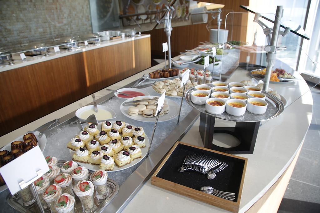 The buffet at Vast at 333 W Sheridan in Oklahoma City.