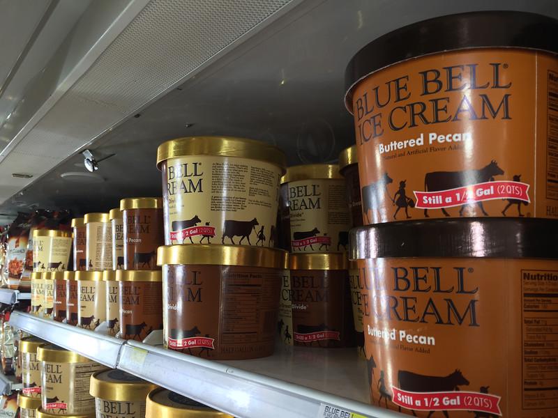 Blue Bell Ice Cream at Target in Edmond , OK.