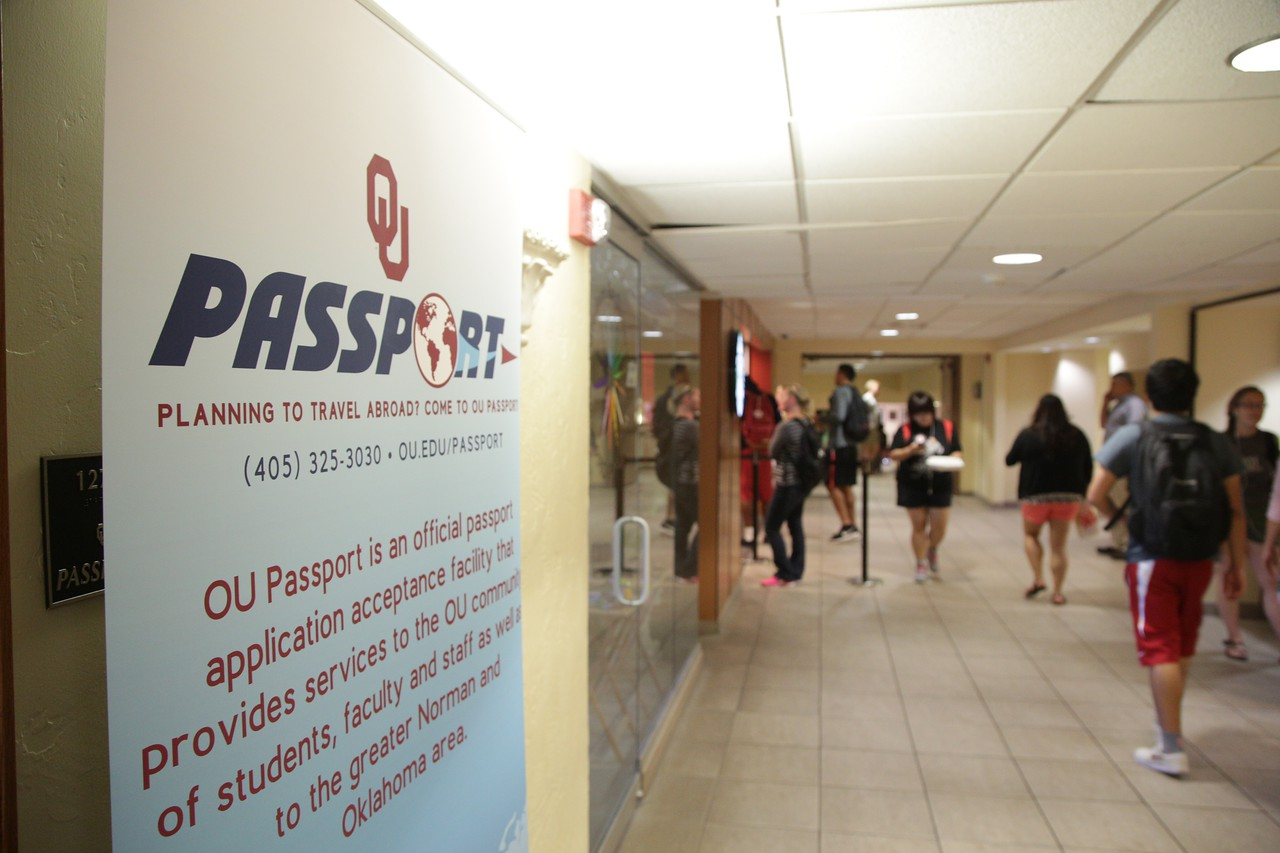 The University of Oklahoma is able to issue passports on the first floor of Memorial Union.