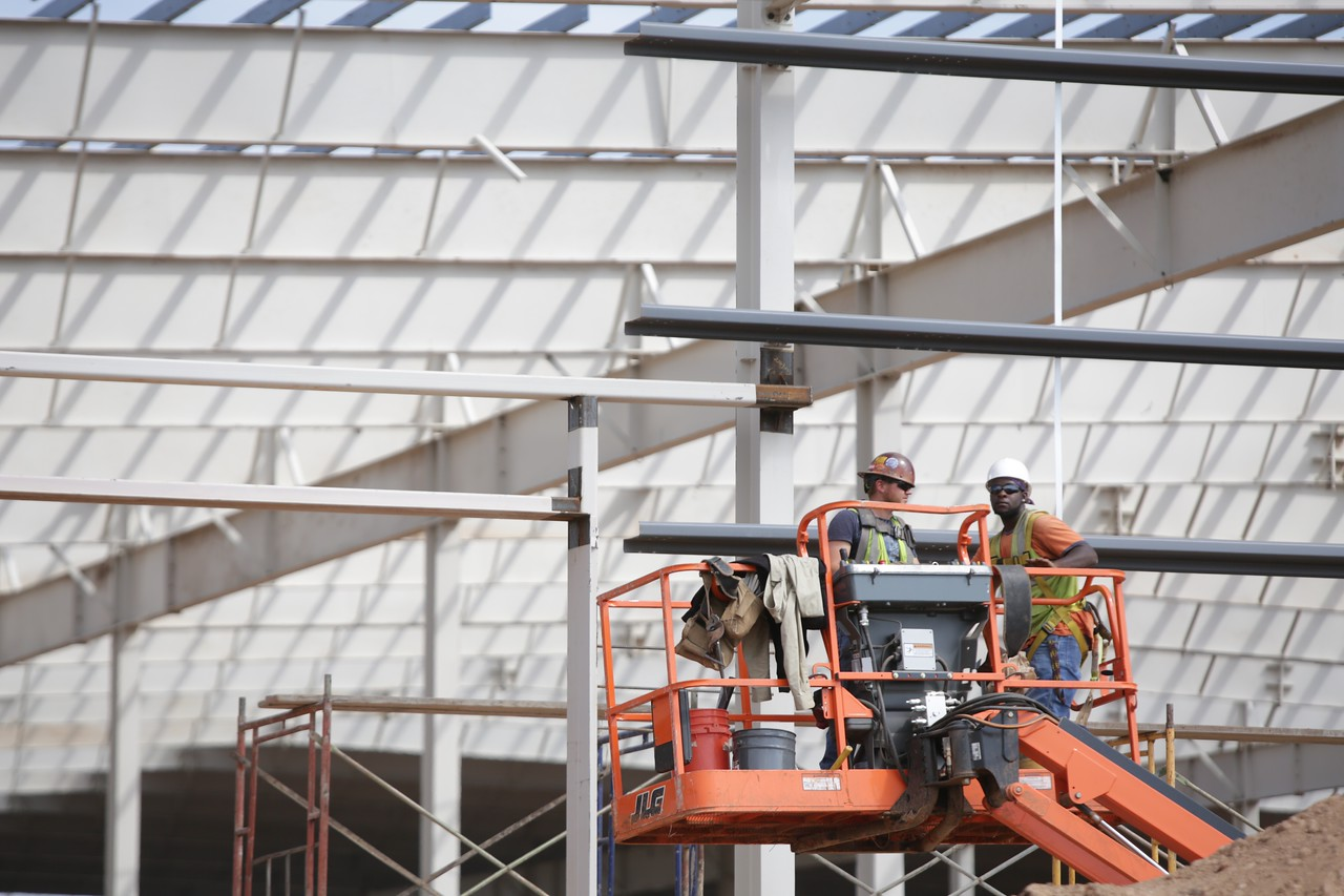 Construction of the new State Fair Expo Center at the Oklahoma State Fair Grounds in Oklahoma City, OK.