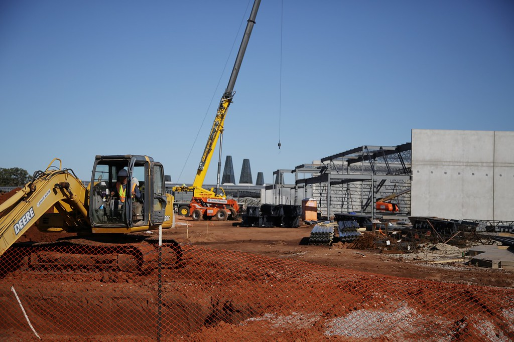 A new Sprouts grocery store under construction at NW 122nd and MacArthur in Oklahoma City, OK.