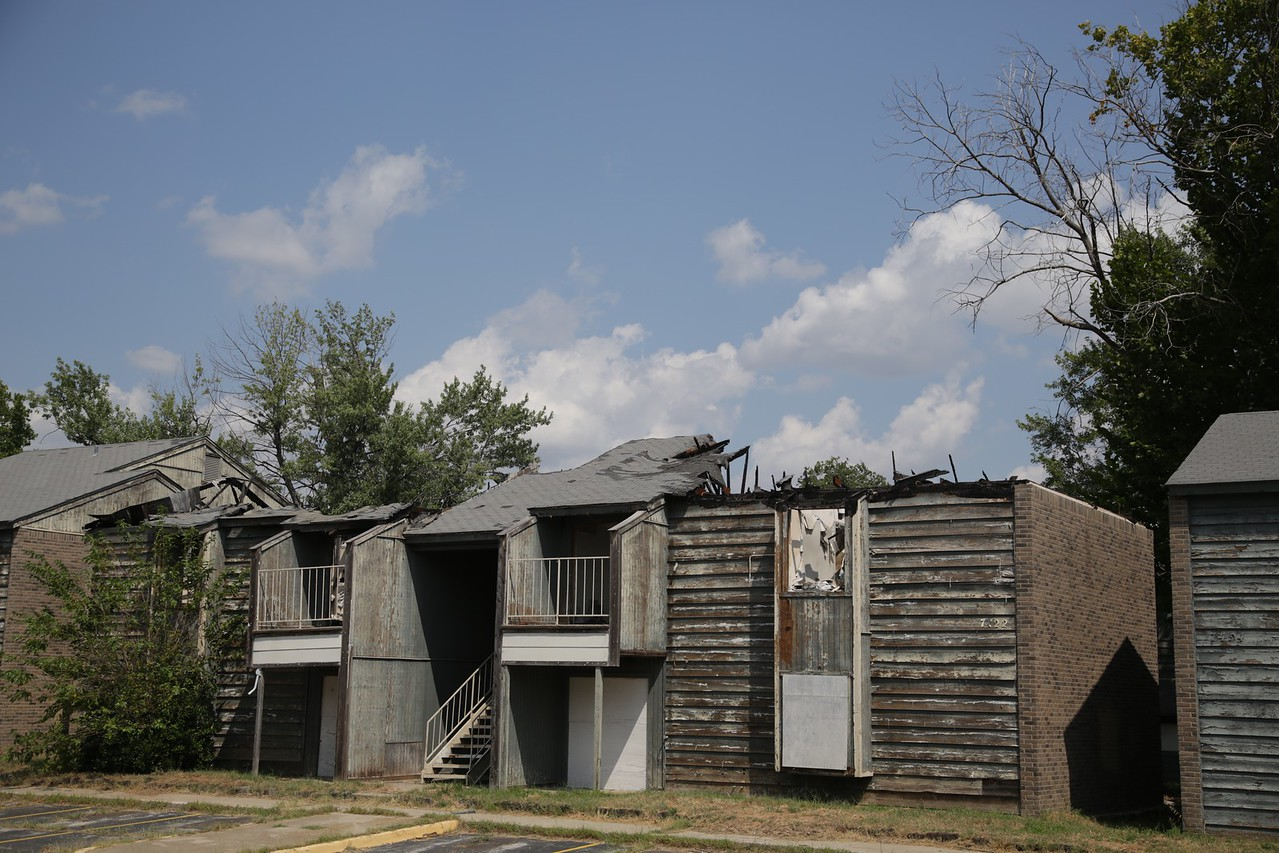 The Lantana Apartment complex at 7408 NW 10th Street is a blighted property in Oklahoma City.