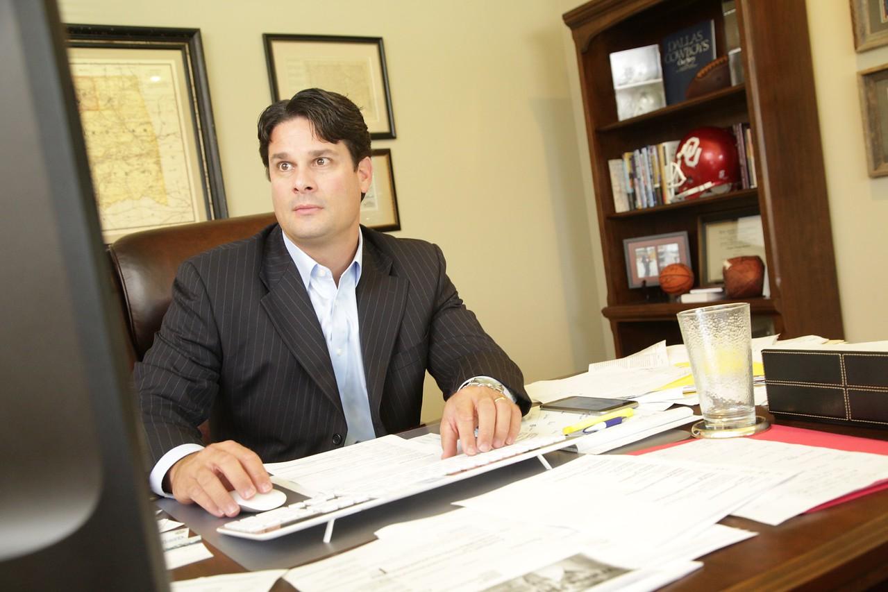 Clay Bullard, President of PGX Medical, at his office in Edmond, OK.